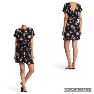 NWT FRNCH Short Sleeve Floral Button Up Dress